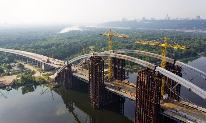 Немецкие специалисты озвучили стоимость достройки Подольского моста в Киеве