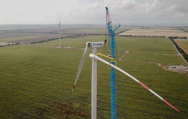 На Одесчине началось строительство первого ветропарка
