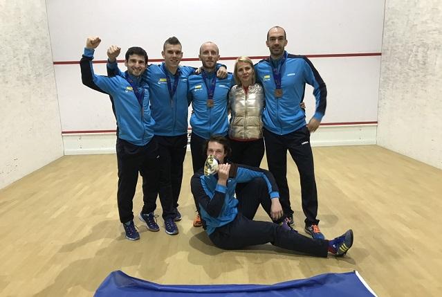 Сборная Украины по сквошу заняла третье место на командном чемпионате Европы