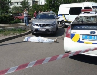 Место убийства советника главы Укрспирта Виктора Панкова