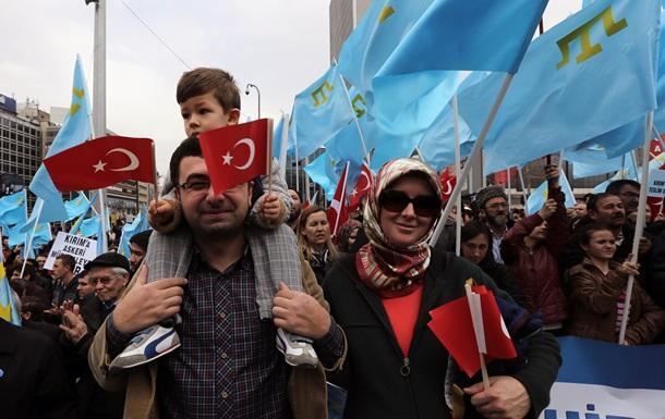 В Турции прошел митинг в поддержку украинского Крыма