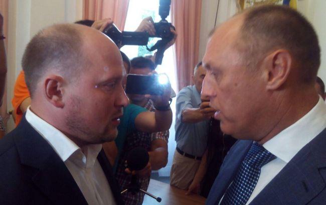 В Полтаве Сергей Каплин подрался с мэром на сессии горсовета: видео