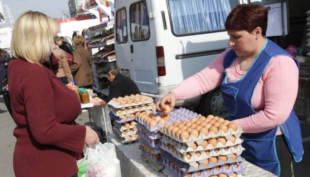 В Украине подешевели яйца, молоко и сало