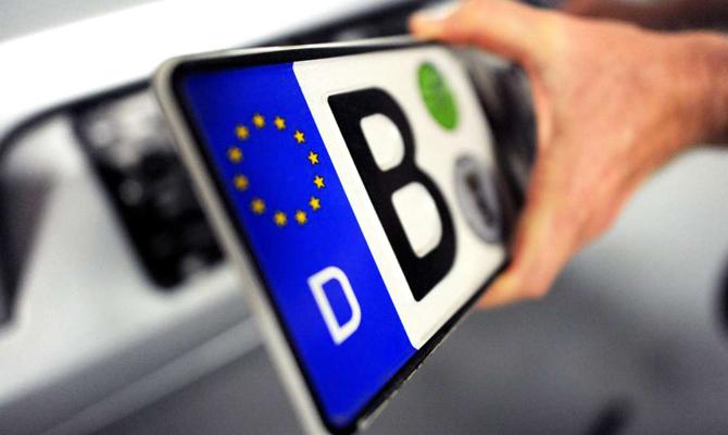 В Украине незаконно находится 52 тыс. авто на иностранных номерах