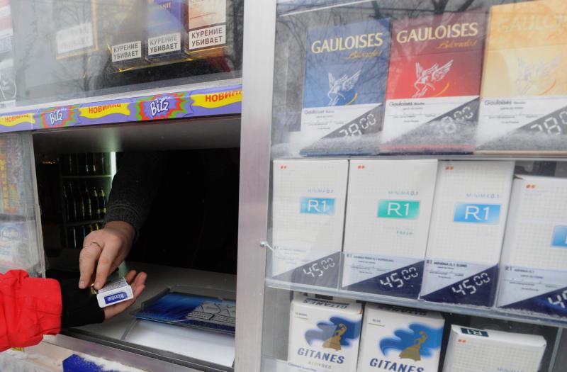 В Киеве проходит антитабачный эксперимент