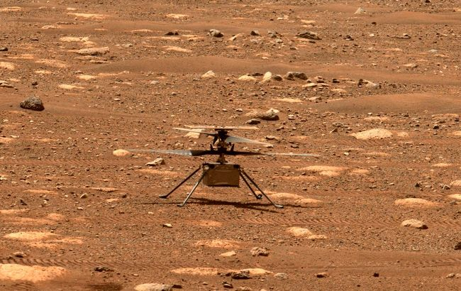 Вертолет NASA сделал новые снимки поверхности Марса