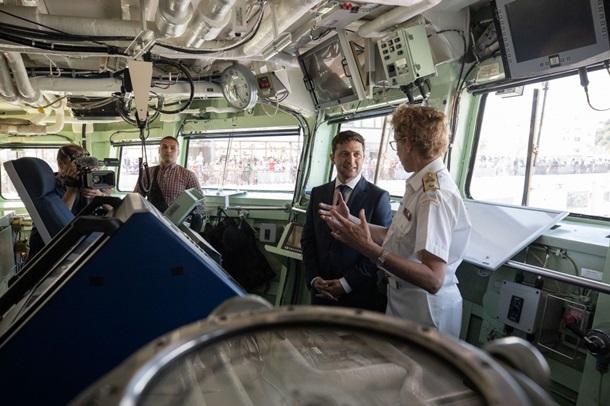 Зеленский осмотрел корабли НАТО