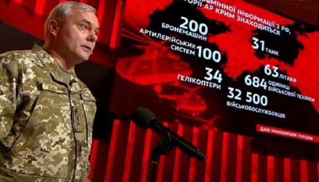 Наев озвучил число российских военных в Крыму