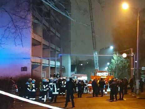 В инфекционной больнице в Запорожье произошел пожар