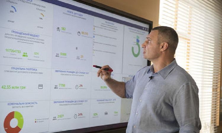 Кличко продемонстрировал умные технологии управления Киевом