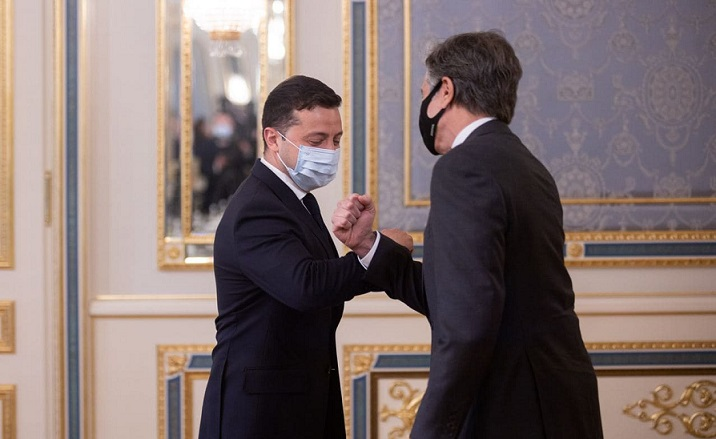 Зеленский встретился с госсекретарем США Блинкеном