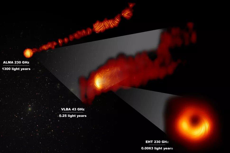 На первом в истории изображении черной дыры обнаружили сверхмощные магнитные поля