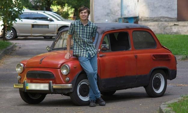 Украинский студент сделал электромобиль из старого «Запорожца»