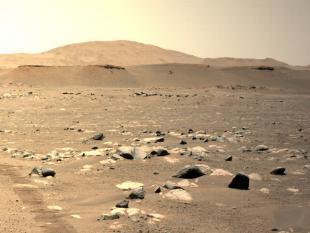 Марсианский вертолет НАСА Ingenuity совершает третий полет над Марсом (фото NASA)